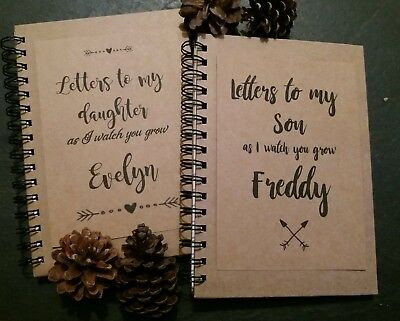 letters to my son daughter as i watch grow personalised baby shower scrap book