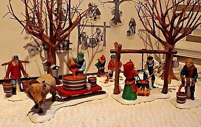 Dept 56 ~ TAPPING THE MAPLES ~ SET OF 7 #56599