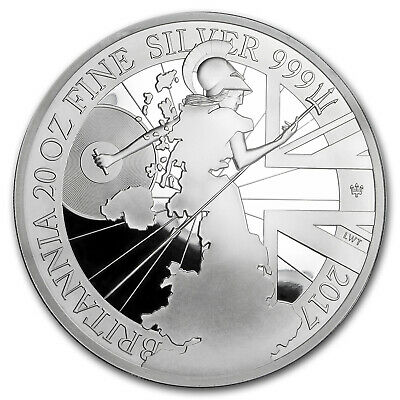 2017 Great Britain 20 oz Silver Britannia (20th Anniv) - SKU#153521