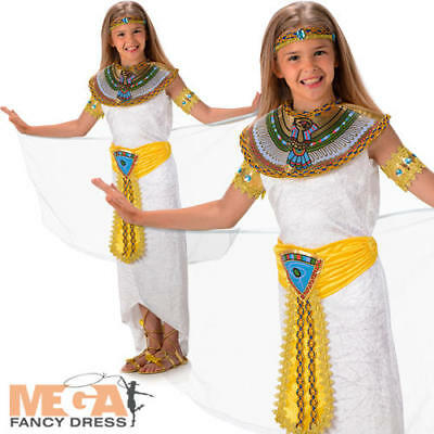 Queen of the Nile Cleopatra Girls Fancy Dress Ancient Egypt Kids Childs Costume