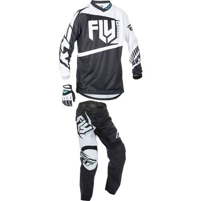 2017 FLY F16 Youth Motocross kit, Black / White, YS Top, 20 pant.