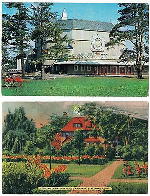 Vintage STRATFORD CT PCs ~ SHAKESPEARE THEATRE & STERLING COMMUNITY HOUSE & PARK