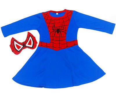 New Size 2-6 Kids Superhero Spider Girl Party Costumes Girls Toddler Cosplay