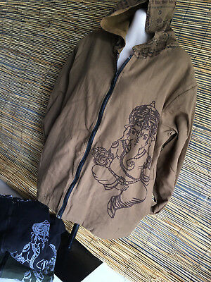 Lot of 3 cotton fully lined hoodies.Unisex.VERY GOOD QUALITY.Ganapati print.New.