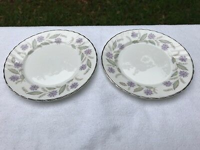 "Charming Royal Adderley ""Charmaine"" Fine Bone China Side Plates, Set of Two"