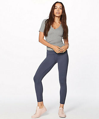Lululemon Wunder Under 7/8 Tight - Full-On Luon - Size 10 - Shadow Blue