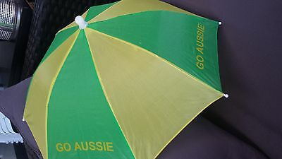 australia green and gold umbrella hat australia day anzac day