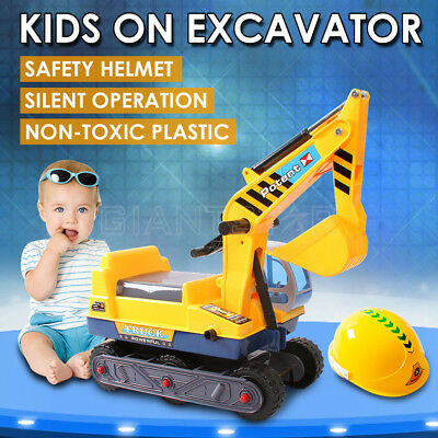 Baby Pretend Play Ride On Excavator Children Outdoor Beach Toys Sand Digger Car