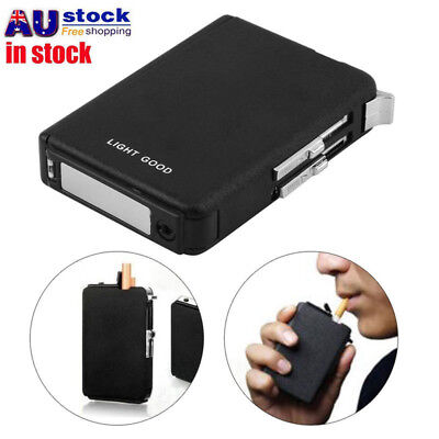 Automatic Cigarette Case Dispenser with Built in Torch Windproof Butane Lighter