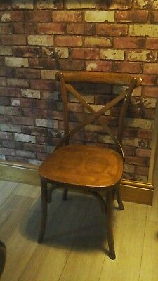 Cross Back Dining Chair ~ Rustic Kitchen Chair ~ Bentwood