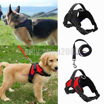 Large Dog Leash Harness Adjustable Pet Safe Control Training Walking Collar