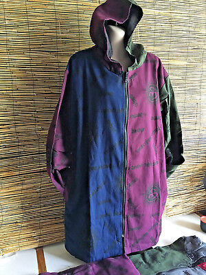 """Lot of 3 good quality cotton """"om"""" jackets.Fully lined.Generous size.Unique.Funky"""