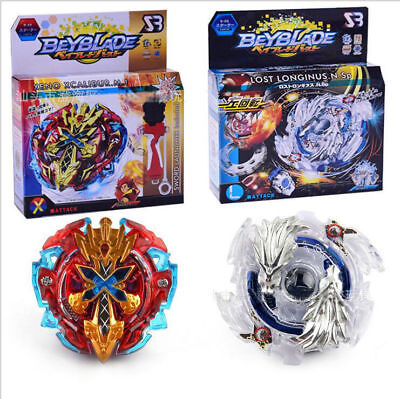 Metal Beyblade Burst Starter Zeno Excalibur Launcher Toy Gifts For Kids With Box