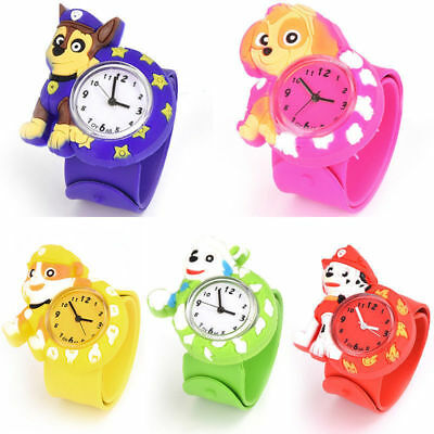 PAW PATROL MARSHALL CHASE RUBBLE SKYE EVEREST RYDER Toy Gift Snap Watch