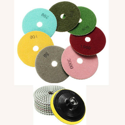 4 Inch Marble Polishing Diamond Granite Concrete Polishing Pads Wet/Dry Set Kit