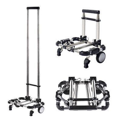 Folding Hand Truck Luggage Cart Collapsible Foldable Shopping Cart+Dustproof Bag