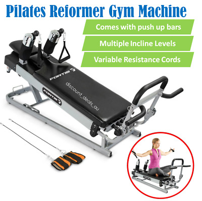 New Pilates Reformer Gym Machine Home Fitness Workout Exercise Equipment Toning