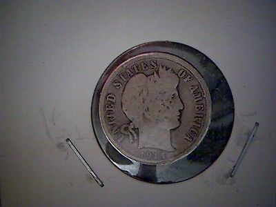 1914 D   United States Barber Dime, Old United States Silver Coin