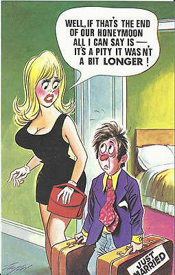 Vintage 1970's Bamforth COMIC Postcard (as new condition) pity not longer #497