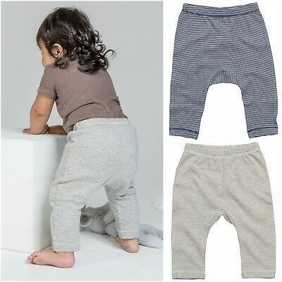 Organic Cotton Baby Leggings Trousers Soft Stretch Boy Girl Pants Stripe Jersey