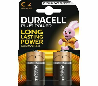 DURACELL LR14/MN1400 C Plus Batteries - Pack of 2 - Currys