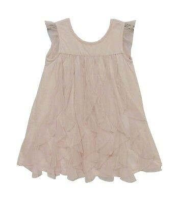 Baby Girls Gap Dusky Pink Twins Chiffon Layered Dress Knickers Age 12-18 Months