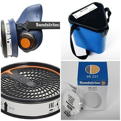 Sundstrom SR100 Silicone Half Mask M/L with Storage Box, P3 Filter & Pre Filters