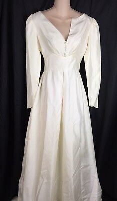 VTG Classic Elegant Ivory Wedding Dress Cleaning/Repair/Zombie Fit Small S