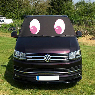 VW Transporter T6 Window Screen Curtain Cover Wrap Frost Blinds Eyes Pink Cute