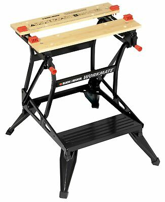 Black Decker Workmate Workbench Dual Height  Black Bench Tool Stand Sawhorse