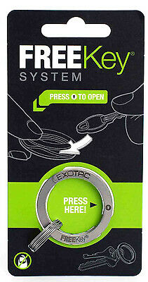 "Easy-open Key Ring System With 3 Mini Rings 1-1/8"" Diam., Exotac, 002825"