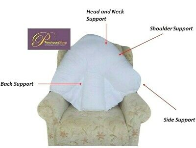 Batwing Pillow Back and Neck Orthopaedic Support Padded Sofa Cushion 30% off RRP