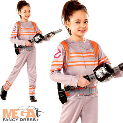 Ghostbusters Girls Fancy Dress Halloween Kids Childrens Movie Costume Outfit New