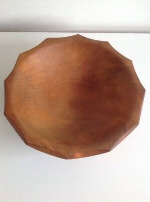 "Ancient Kauri Wooden Bowl Signed 10"" Diameter 4"" Deep"