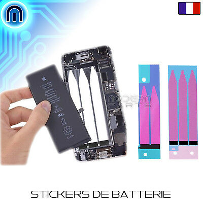 Stickers batterie iPhone 5 5C 5S SE 6 6S 6+ 7 autocollant adhésif languette
