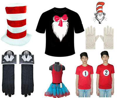Book Week Day Children/ Adult Cat in the Printed Shirt Dr. Seuss Accessories