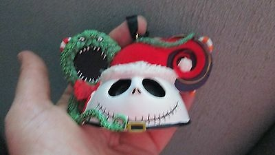 Disney Sandy Claws Jack Skellington Nightmare Christmas Ornament Mickey Ears Hat