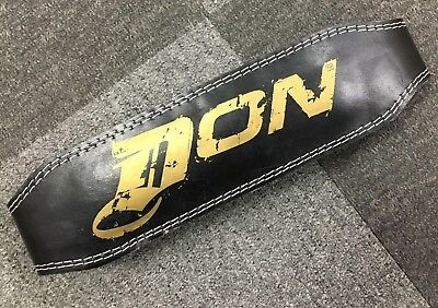 "Don 6"" Leather Power Weight Lifting Belt Back Support Strap Gym Training Fitness"