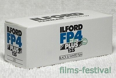 5 rolls ILFORD FP4 125 Plus 120 Black and White Film