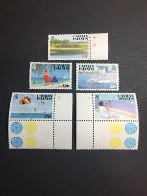 Cayman Islands 574-578 MMH OG - 10c to $1 Full Set - Tourism