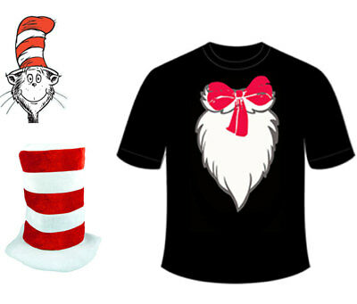 New Book Week Day Children Adult Crazy Cat in the Hat Printed Shirt Dr Seuss