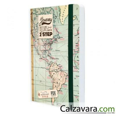 Legami Notebook Taccuino Photo - Medium cm 12,5x18 - a Righe - Mappe Map
