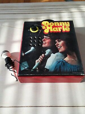 Ultra Rare Vintage 1977 Donny & Marie Osmond AM Radio Microphone Karaoke