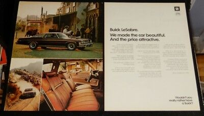 SWEET 1974 BUICK LESABRE COUPE IN BROWN AD - VINTAGE 70s AMERICAN RETRO CAR