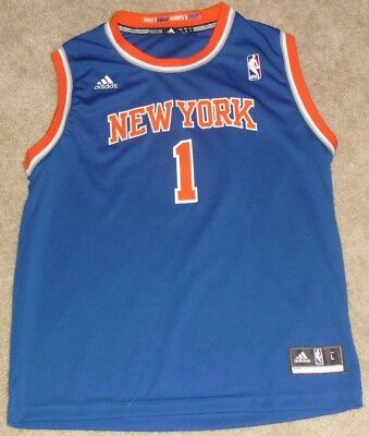 ce1a5b4037d ADIDAS NBA JERSEY New York Knicks Amare Stoudemire Blue Throwback sz ...