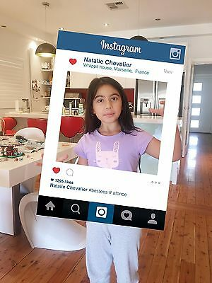 Personalised Instagram Photobooth Frame for Props Party (Social Media)