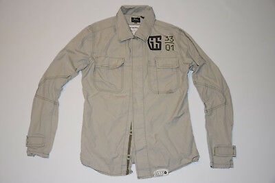 G-STAR RAW MENS gray  MILITARY STYLE FIELD JACKET size M