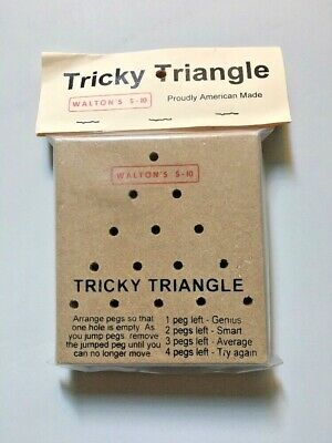 "SEALED BRAIN TESTERS "" TRICKY TRIANGLE "" Game marked Walton 5 & 10 USA MADE"