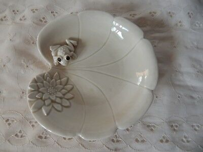 Frog On Lily Pad Trinket Soap Candy Dish Ji Japan