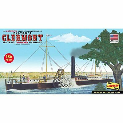 Fulton's Clermont Side Wheel Powered Steamboat Kit …